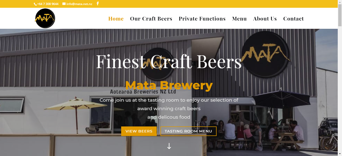 Mata brewery winstar website design and software developers for Brewery design software